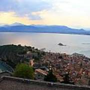 Greece-nafplio Castle Art Print