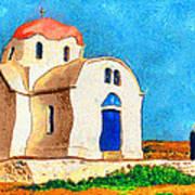 Greek Church 4a Art Print