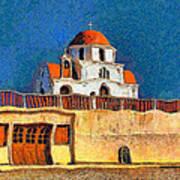 Greek Church 7 Art Print