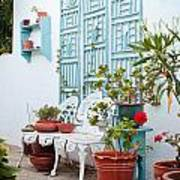 Greek Courtyard Art Print