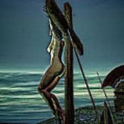 Greek Crucifixion Scene II Art Print