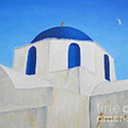 Greek Island Church  Art Print