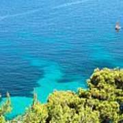 Greek Sea View Art Print