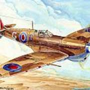 Greek Squadron Spitfire Art Print