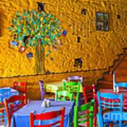 Greek Taverna Art Print by Eleni Mac Synodinos