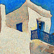 Greek Village 27 Art Print
