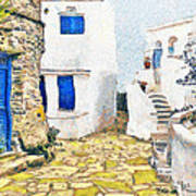 Greek Village 8 Art Print