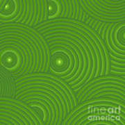 Green Abstract Art Print by Frank Tschakert