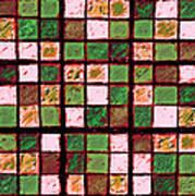 Green And Brown Sudoku Art Print