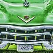 Green And Chrome-hdr Art Print