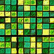 Green And Yellow Sudoku Art Print