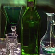 Green Bottle Art Print