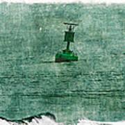 Green Buoy - Barnegat Inlet - New Jersey - Usa Art Print