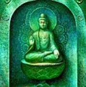 Green Buddha Art Print