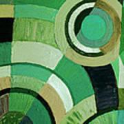Green Circle Abstract Art Print