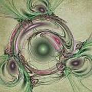 Green Circles Art Print