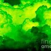 Green Clouds Art Print