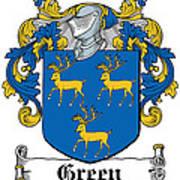 Green Coat Of Arms Irish Art Print