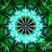 Green Compass Art Print