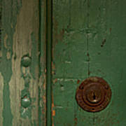 Green Door   #4377 Art Print