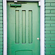 Green Door San Francisco Art Print