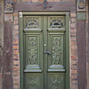 Green Door Ystad Art Print