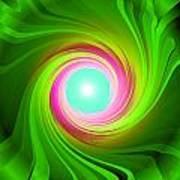 Green Energy-spiral Art Print