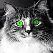 Green Eyed Elvis Art Print