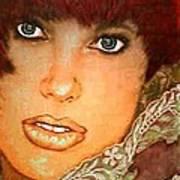 Green Eyed Redhead IIi Art Print