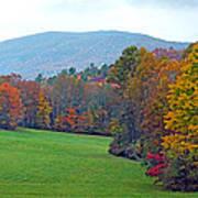Green Field In The Fall Art Print