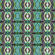 Green Geometric Abstract Pattern Art Print
