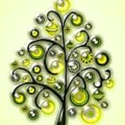 Green Glass Ornaments Art Print
