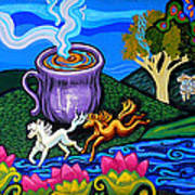 Green Goddess Coffee Art Print