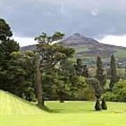 Green Green Garden And Mountain Art Print