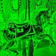 Green Horse Art Print