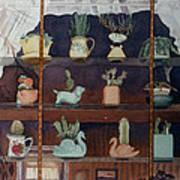 Green House Window Art Print