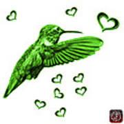 Green Hummingbird - 2055 F S M Art Print