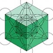 Green Hypercube Art Print