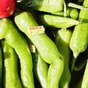 Green Jalpeno Peppers Art Print