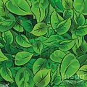Green Leaves - V1 Art Print