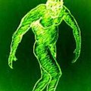 Green Man Arises Art Print