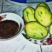 Green Mangoes Art Print