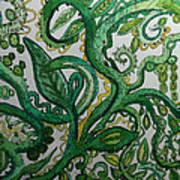 Green Meditation Art Print