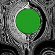 Green Mirror Art Print