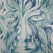 Green Art Print by Moshfegh Rakhsha
