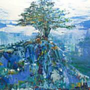 Green Mountain Tree Art Print