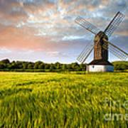 Green Ocean ''pitstone Windmill'' Art Print