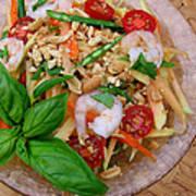 Green Papaya Salad With Shrimp Art Print