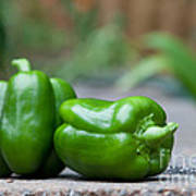 Green Peppers Art Print