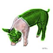 Green Piglet - 0878 Fs Art Print